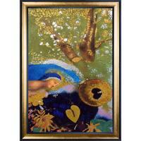 Odilon Redon 'Homage to Leonardo da Vinci, 1908' (Luxury Line) Hand Painted Framed Canvas Art