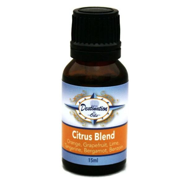 Essential Oils for Stress Relief Citrus Breeze 15ml Blend by Destination Oils