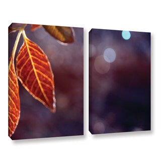 ArtWall Mark Ross's Fall Lights, 2 Piece Gallery Wrapped Canvas Set