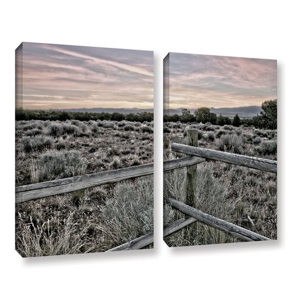 ArtWall Mark Ross's Intersection of the Tortoise and Hare, 2 Piece Gallery Wrapped Canvas Set - Multi