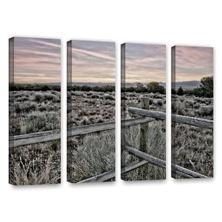 ArtWall Mark Ross's Intersection of the Tortoise and Hare, 4 Piece Gallery Wrapped Canvas Set