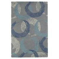 Hand-Tufted Mi Casa Grey Circles Rug - 8' x 10'
