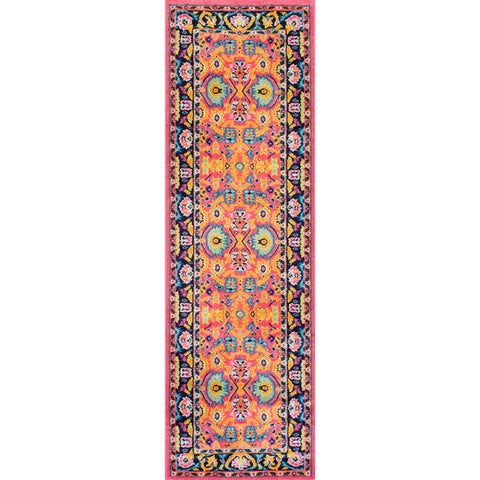 nuLOOM Pink Vibrant Floral Persian Area Rug