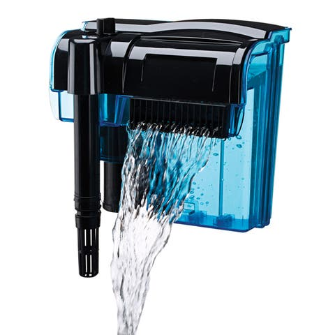 Penn-Plax Cascade Hang-On Power Filter - Black/Blue