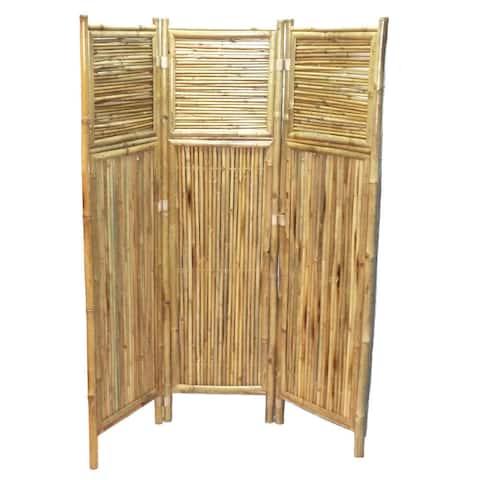 Handmade Bamboo Geometric Screen/ Room Divider (Vietnam)