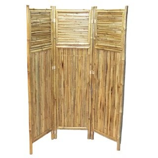 Handmade Bamboo Geometric Screen/ Room Divider (Vietnam)