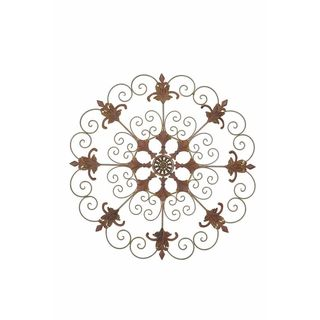 Sunjoy Garden Crest Metal 33-inch Laser Cut Wall Decor