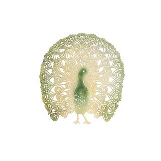 Sunjoy Colorful Peacock Metal 26-inch Laser Cut Wall Decor