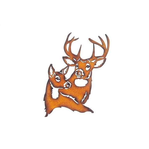 Shop Sunjoy Deer Rust Metal 19-inch Laser Cut Wall Decor - Free ...