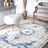 Maison Rouge Oryan Traditional Persian Blue Area Rug (6'7 x 9')