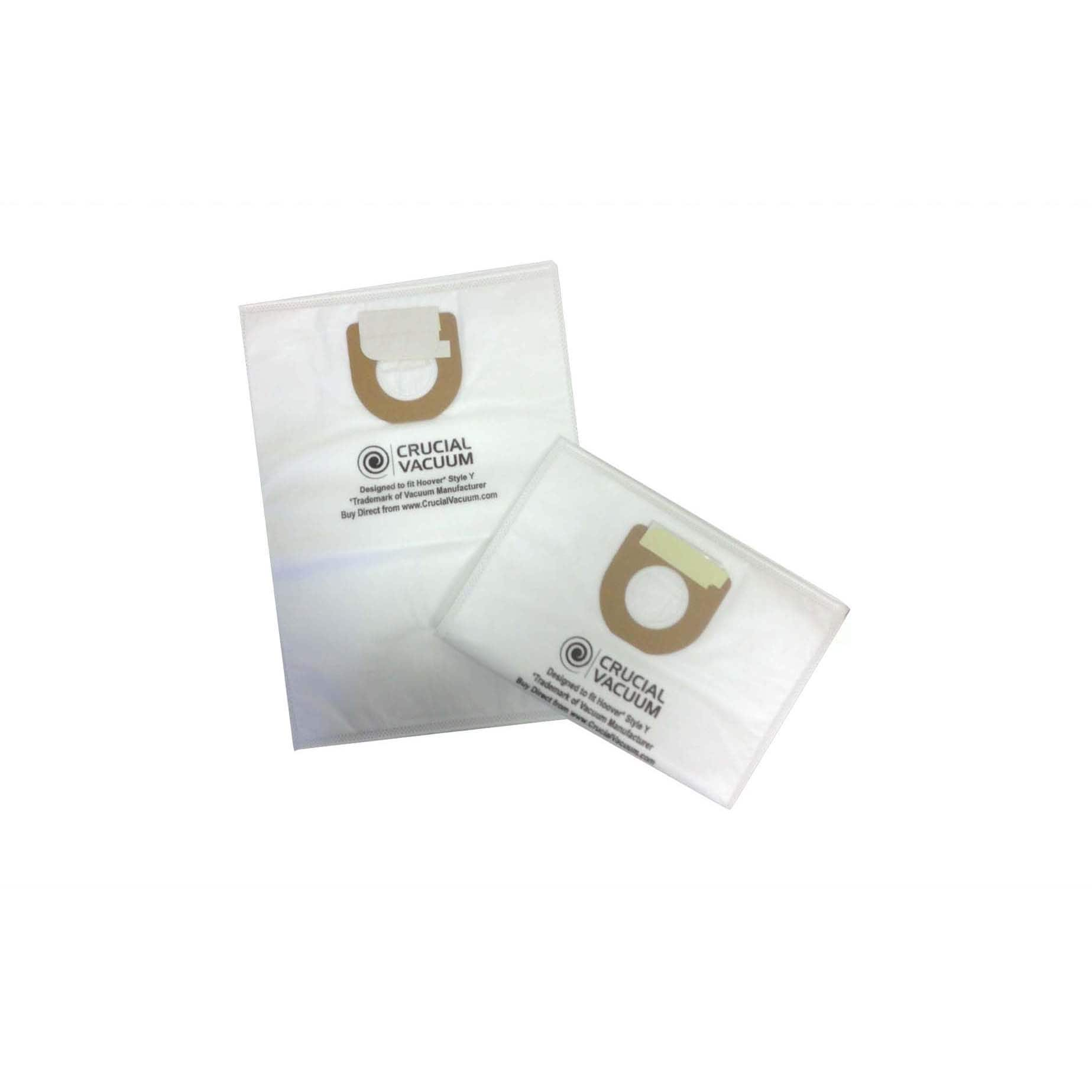 Crucial 18 Hoover Type Y Cloth Bags Part # 4010100Y 40108...