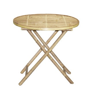 Folding Round Bamboo Table (Vietnam)