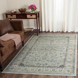 Safavieh Persian Garden Vintage Light Blue/ Ivory Viscose Rug (6' 7 x 9' 2)