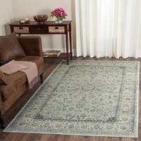 Safavieh Persian Garden Vintage Light Blue/ Ivory Distressed Silky Viscose Rug - 6' 7 x 9' 2