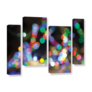ArtWall Cody York's Bokeh 1, 4 Piece Gallery Wrapped Canvas Staggered Set