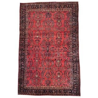 Antique Persian Maharajan Sarouk Full Pile And Soft Rug (12'4 x 19'3)