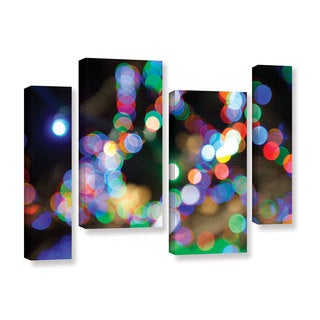 ArtWall Cody York's Bokeh 2, 4 Piece Gallery Wrapped Canvas Staggered Set