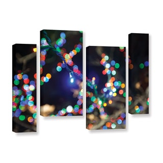 ArtWall Cody York's Bokeh 3, 4 Piece Gallery Wrapped Canvas Staggered Set