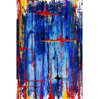 Maxwell Dickson 'Blue Melodies' Modern Canvas Wall Art