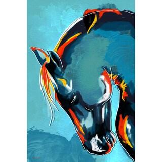 Maxwell Dickson 'Blue Stallion' Modern Canvas Wall Art