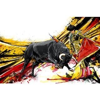 Maxwell Dickson 'Bull Fighter' Modern Canvas Wall Art