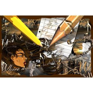 Maxwell Dickson 'Creativity' Modern Canvas Wall Art