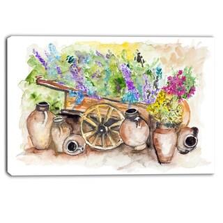 Designart - Lavender Flowers - Floral Canvas Art Print