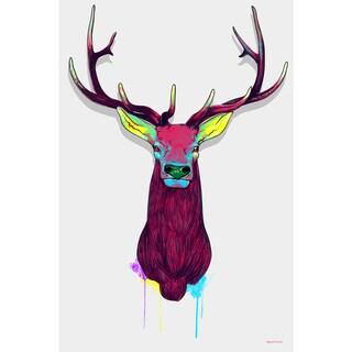 Maxwell Dickson 'Elk Head' Modern Canvas Wall Art