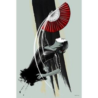Maxwell Dickson 'Fan Dancer' Modern Canvas Wall Art