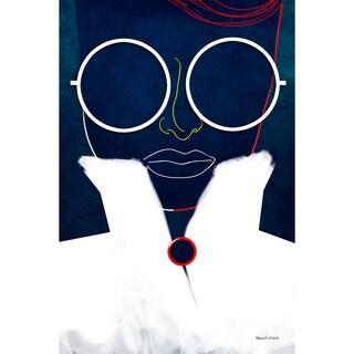 Maxwell Dickson 'Glasses Girl' Modern Canvas Wall Art