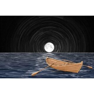 Maxwell Dickson 'Full Moon' Modern Canvas Wall Art
