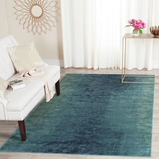 Safavieh Vintage Watercolor Turquoise/ Multi Distressed Silky Viscose Rug (5'3 x 7'6)
