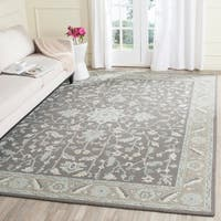 Safavieh Handmade Blossom Dark Grey/ Light Brown Wool Rug - 8' x 10'