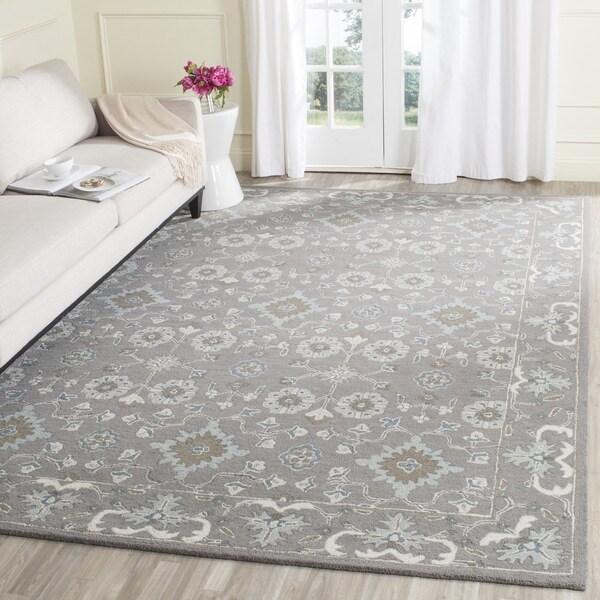 Safavieh Handmade Blossom Grey Wool Rug - 8' x 10'