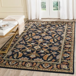 Safavieh Handmade Blossom Navy Wool Rug (8' x 10')