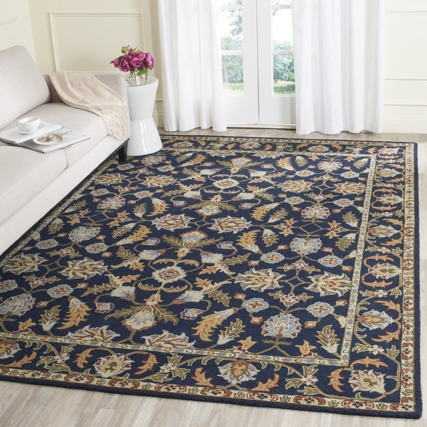 Safavieh Handmade Blossom Navy Wool Rug - 8' x 10'