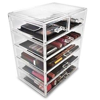 Acrylic Drawer Makeup Organizer with Removable Drawers