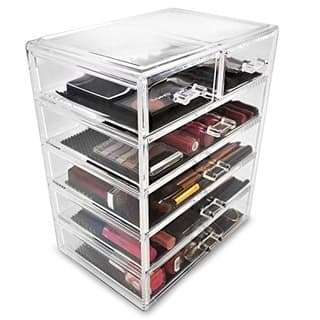 Sorbus Makeup Storage Case Display 4 Large and 2 Small Drawers
