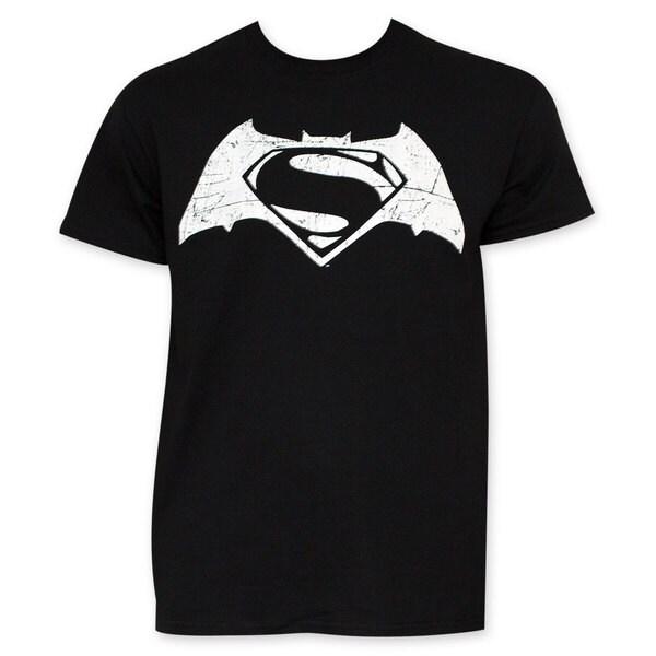 2a949870d ... 7 Batman Shirts Walmart: Shop Batman VS Superman Black And White Movie  Logo T-Shirt