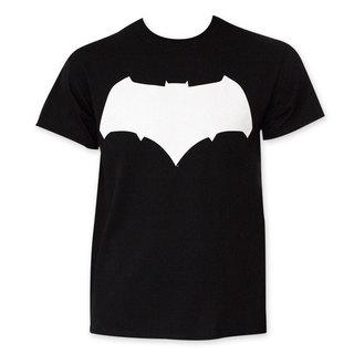 Batman VS Superman Black And White Batman Logo T-Shirt