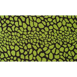 Handmade Kizuri Green Acrylic Rug (8' x 10')