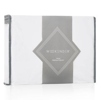 Fitted Jersey Mattress Protector with Noiseless Waterproof Barrier by Weekender