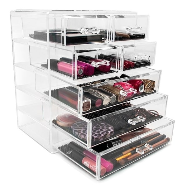 Sorbus Makeup Storage Case Display 3 Large And 4 Small Drawers