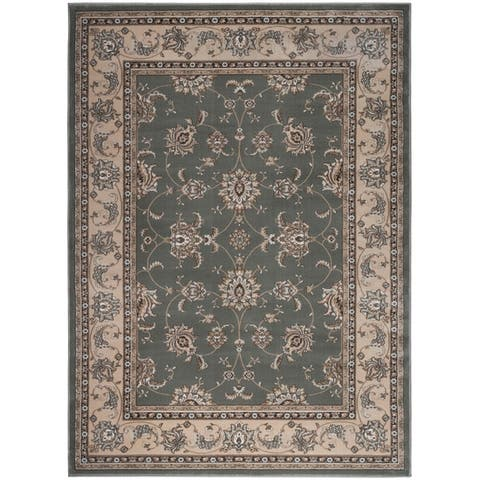 Admire Home Living Plaza Traditional Oriental Floral Scroll Pattern Area Rug