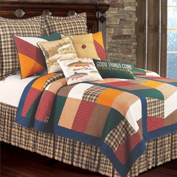 On The River Patchwork Cotton Standard Sham