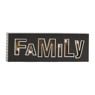 Shinning Wood Led Wall Family Sign 24-inch x 8-inch