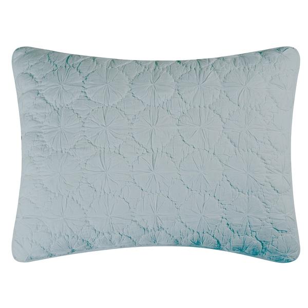 Oversized Blue Mara Cotton Sham- Standard or Euro