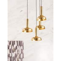 Aurelle Home Lynette Brass Pendant Lamp (set of 4)