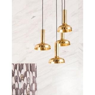 Aurelle Home Lynette Brass Pendant Lamp (set of 4)