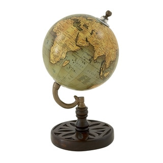 Wood Metal PVC Globe 5-inch x 9-inch